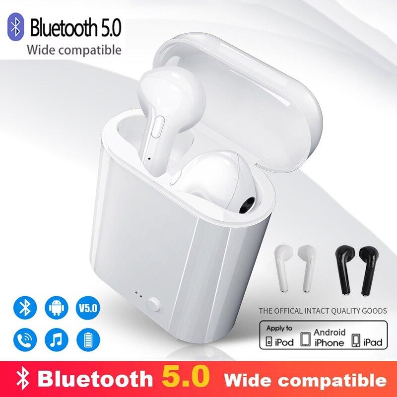 I7s tws 5.0 fones de ouvido bluetooth fone ar alta fidelidade esporte handsfree sem fio com caixa carregamento para todos os smartphones