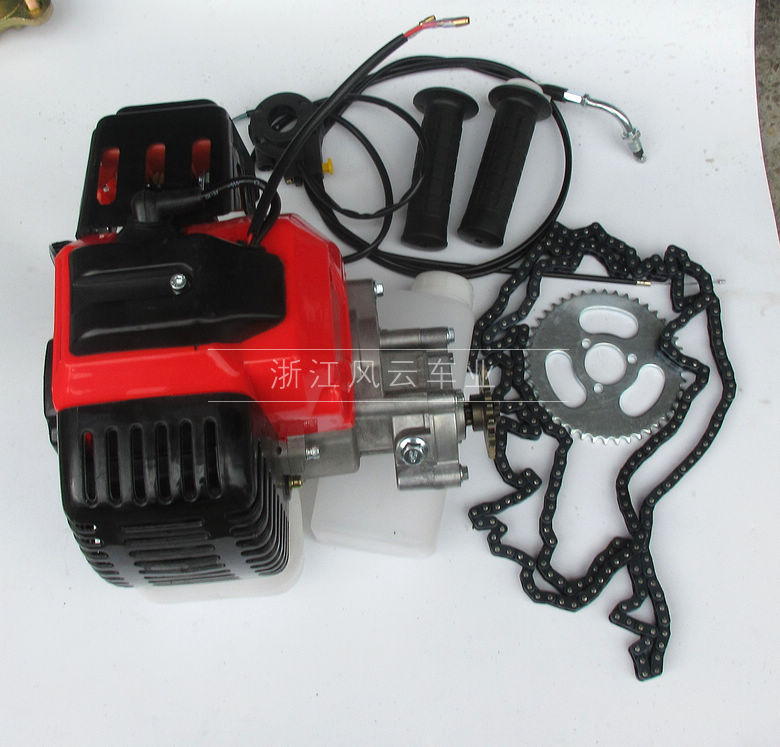 49cc Bike 4 Stroke Gas Engine Motor Kit DIY Motorized Bicycle GAS MOTORIZED Cycle Bike Bicycle set t8f chain