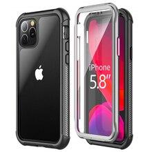 Pour Coque iPhone 11 Pro Max étui 360 Protection iPhone11 étui 2 en 1 clair avant et arrière Etui pour iPhone 11Pro Xr Xs Max X housse