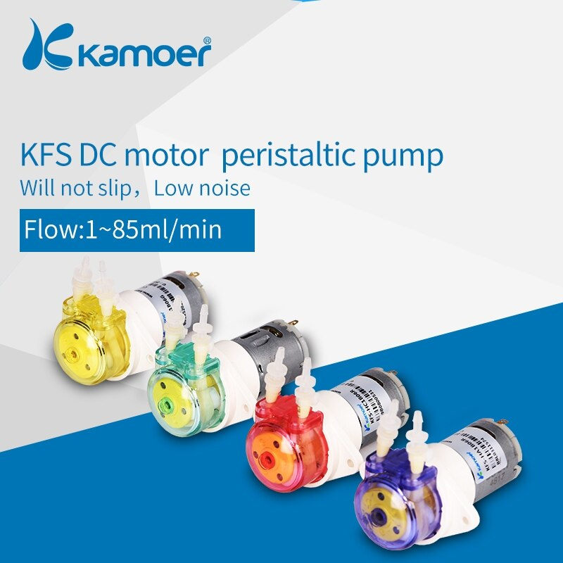kamoer KFS mini 6V/12V/24V peristaltic pump small water pump  with high precision and DC brush motor kamoer kvp04 12v 24v mini diaphragm vaccum pump electric air pump with low flow rate 1 1l min and low noise