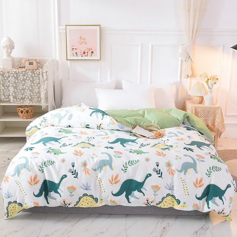 طقم سرير عائلي للأطفال ، طقم سرير مطبوع برسومات كرتونية ، غطاء لحاف للأولاد ، مقاس مفرد ومزدوج