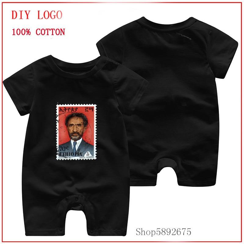 Ropa de bebé infantil Haile Selassie King of King Jah Rastafari disfraces ropa de bebé pelele verano manga corta mono de algodón