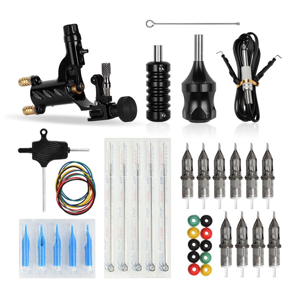 Libélula rotatoria tatuaje máquina Shader Liner Motor Gun Handle Kit para artistas