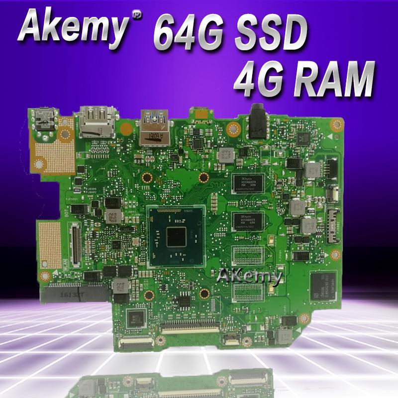 Akemy E403SA اللوحة الام لاسوس E403SA E403S اللوحة الام تعمل 100% اختبار الأصلي N3700 4 النوى 4G RAM 64G SSD