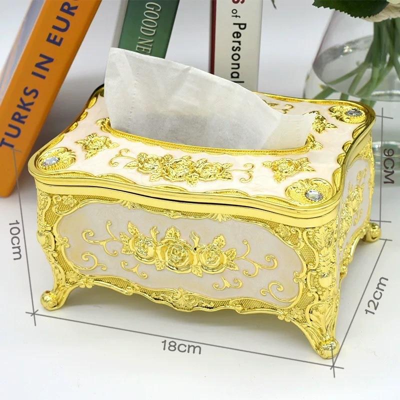 Creative bedroom office desk tissue box European luxury paper universal family KTV hotel car storage towel