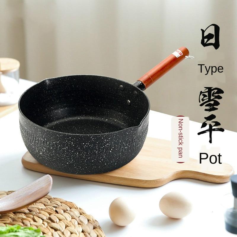 Olla de cocina de estilo japonés con suplemento de alimentos para bebés, olla multifunción para sopa pequeña, olla antiadherente