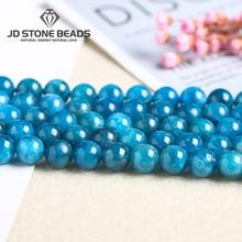 Apatite bleue naturelle mode Apatite de glace pierre gemme faite à la main ornement collier accessoire pour la fabrication de bijoux pierre Semi-précieuse