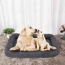Niche chaude pour petits moyens et grands chiens   Tapis dautomne et dhiver en molleton doux, nid de chien, tapis résistant à lhumidité, lit pour animal de compagnie, réchauffement, maison pour chien