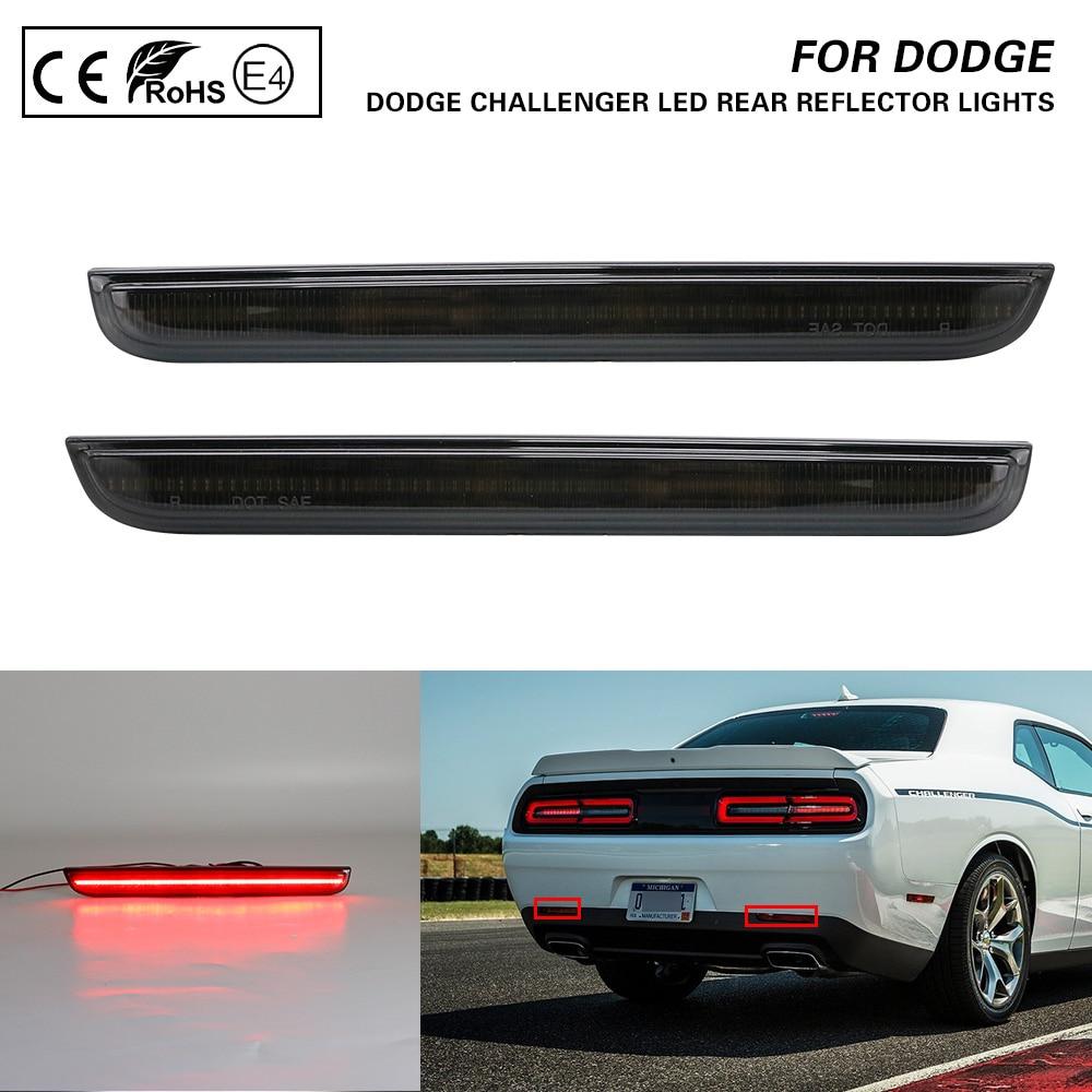 2X красный объектив светодиодный задний бампер отражатель тормозной задний фонарь для 2015-Dodge Challenger