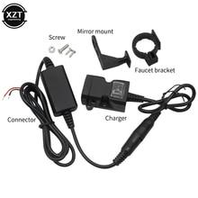 พอร์ต USB คู่พอร์ต12V กันน้ำรถจักรยานยนต์รถจักรยานยนต์ Handlebar Charger 5V 1A/2.1A อะแดปเตอร์แหล่งจ่ายไฟสำหรับ...