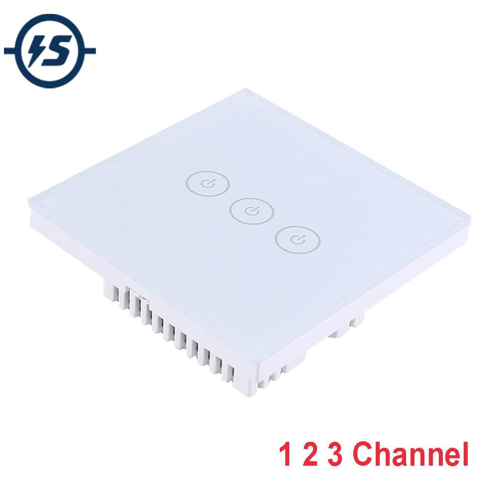 Módulo inalámbrico WIFI AC 110V 220V 800W 1 2 3 canales 1 2 3 Bit tipo-86 Interruptor táctil APP circuito controlador inteligente