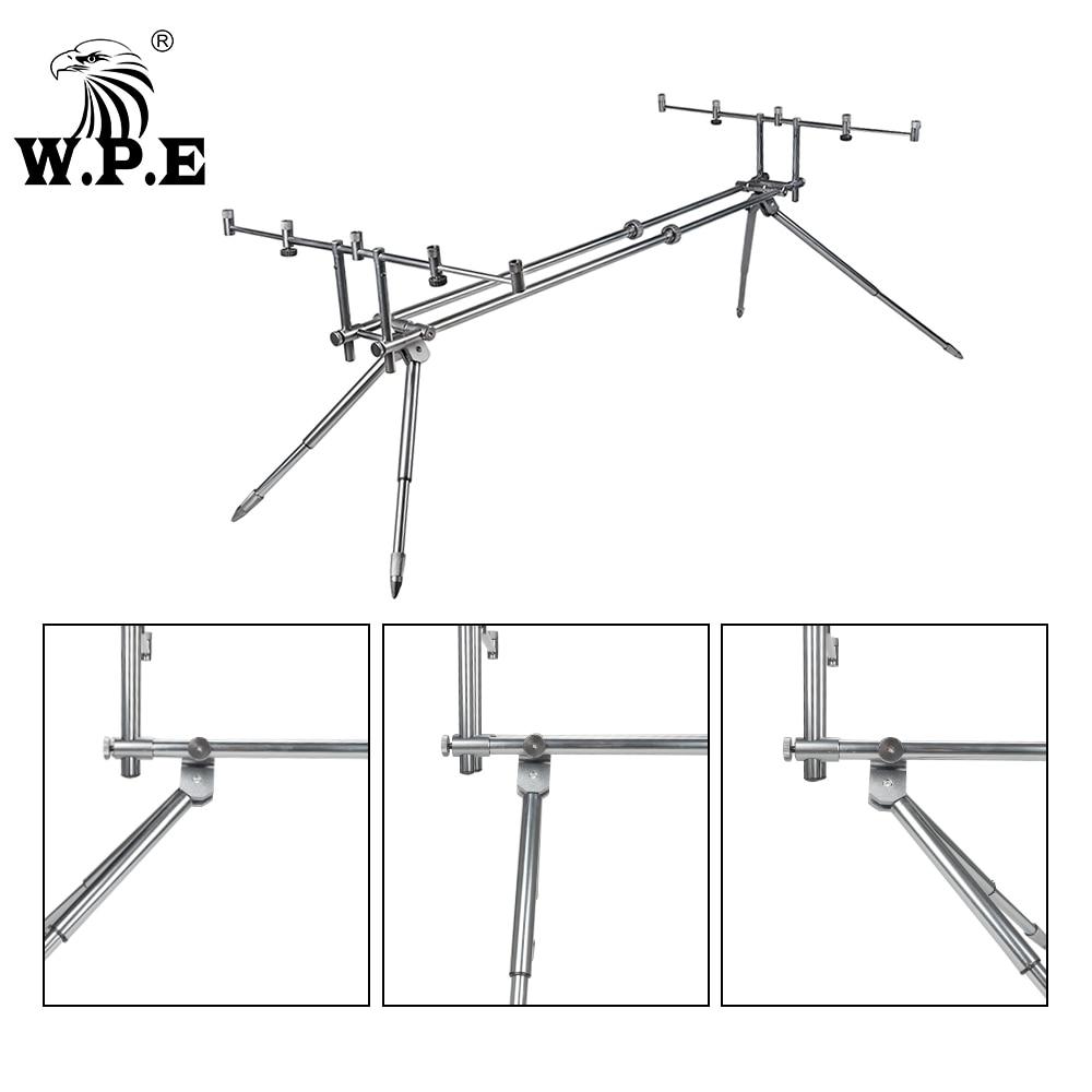 W.P.E Carp Fishing Rod Pod Holder Adjustable Retractable Fish Pole Telescopic Folding Stand Bracket Fishing Accessories Tackle