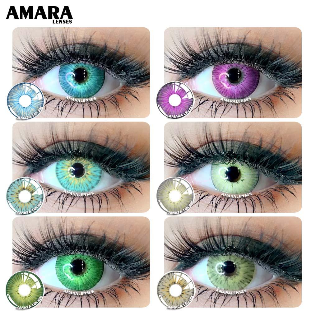 Цветные контактные линзы AMARA, 1 пара, Йорк PRO, красота, цветные контактные линзы для Pupilentes, косплей, цветные контактные линзы ed для глаз
