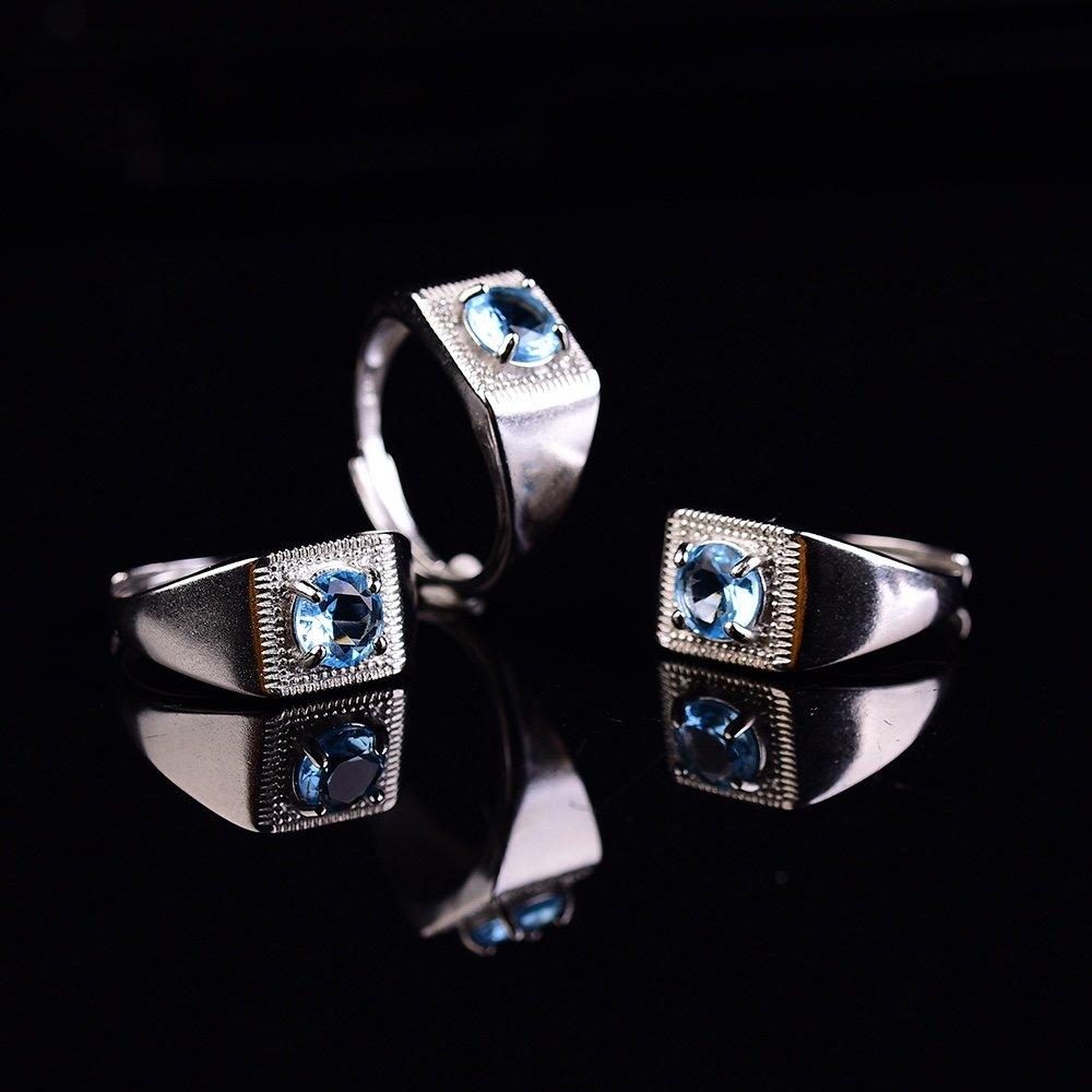Parstone azul anillo anel prata 925 feminino joyería para mujer pierscionek gemas juwelen alianca de BODA anillos hombres