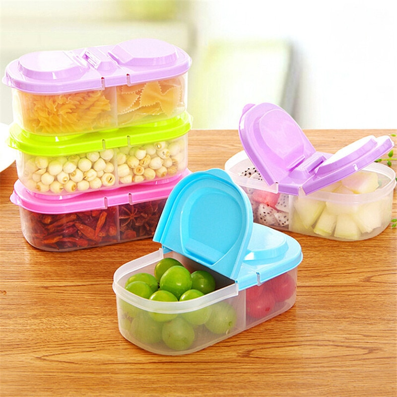 AliExpress - 1 PCS Healthy Plastic Food Container Portable Lunch Box Capacity Camping Picnic Food Fruit Container Storage Box