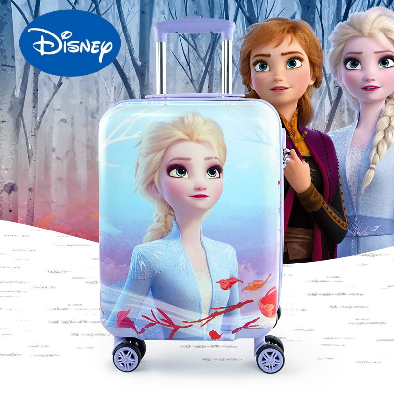 Original Disney Frozen Trolley Case Spider-man Boarding Case 18 Inch Universal Wheel Boarding Travel Bag Carry On Luggage
