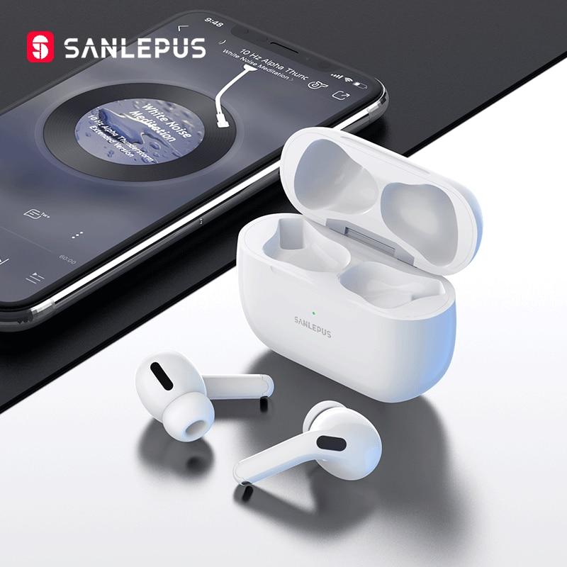 سماعات أذن لاسلكية جديدة من SANLEPUS سماعات أذن TWS مزودة بتقنية البلوتوث سماعات أذن ستيريو 9D لهواتف أندرويد وآيفون وشاومي وهواوي