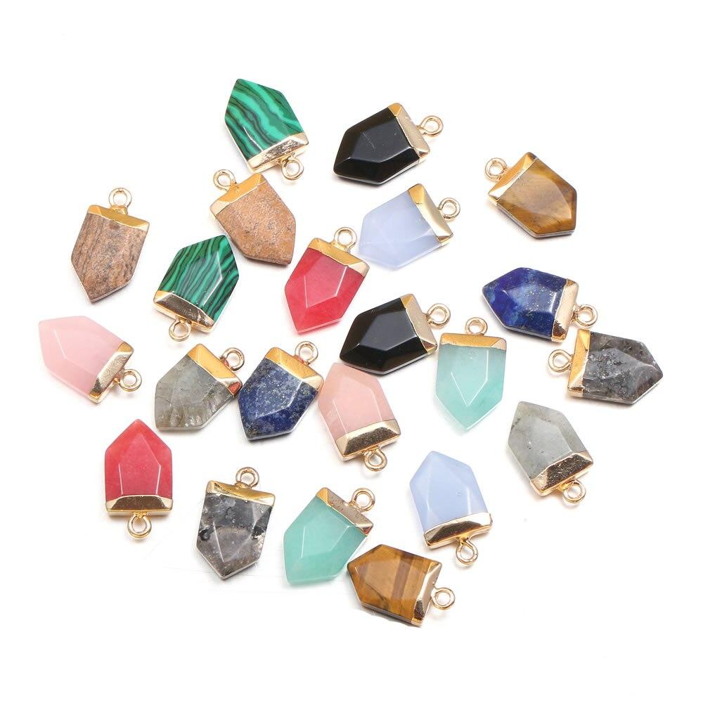 Colgantes de piedra semipreciosa Natural, 1 unidad, lapislázuli, accesorios para collar DIY, para fabricación de joyas, regalo curativo Reiki