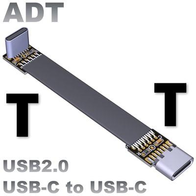 Adt-link-Cable de extensión USB 2,0 tipo C a tipo C, adaptador de...