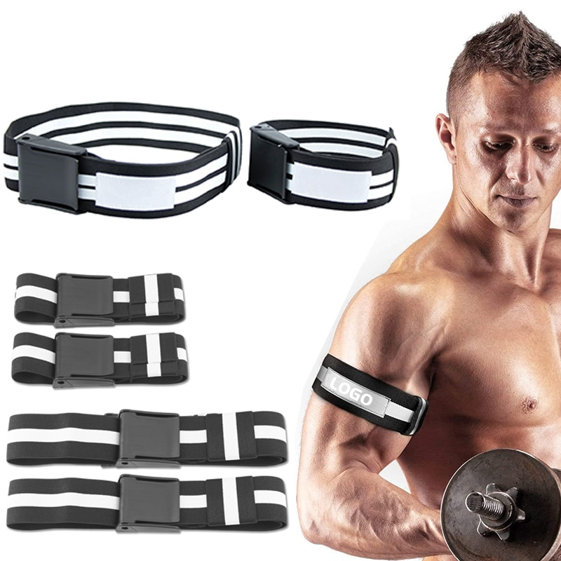 BFR Fitness Occlusion Bands Weight Bodybuilding Blood Flow Restriction Bands Arm Leg Wraps Fast Muscle Growth Gym Equipment