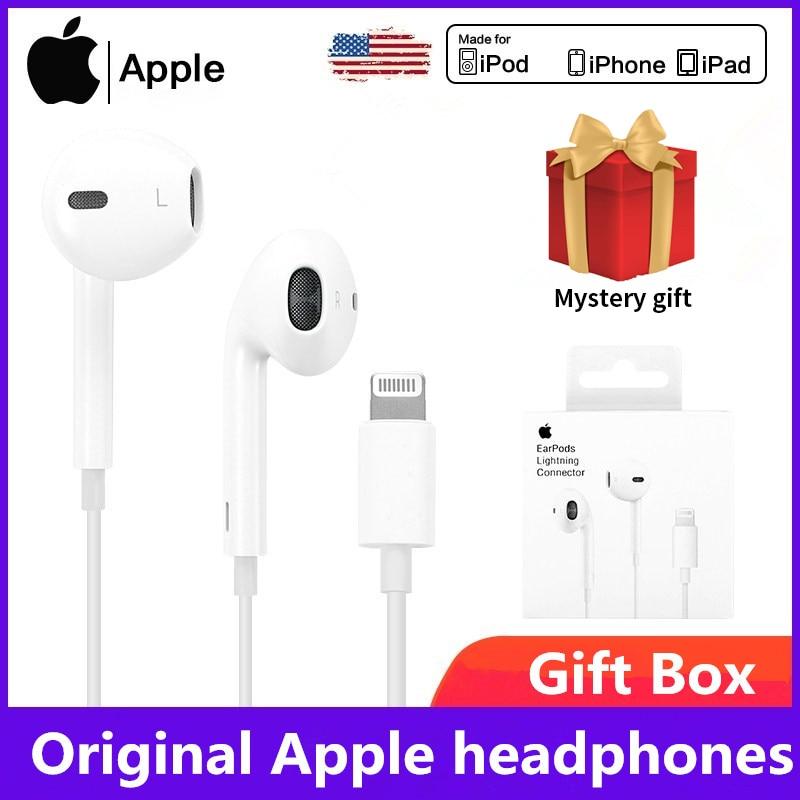 Original Apple Earpods 3.5mm Plug & LightningEarphones iPhone 6 8 Plus X 11 iPhone12 Headset For iPh