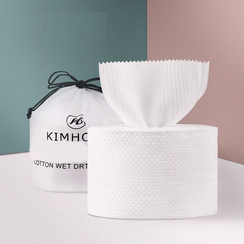 1 Roll Of Disposable Face Towel Non-Woven Tissue Wipes Cotton Pads Facial Cleansing Make Up Remover недорого