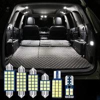 16pcs t10 w5w auto led bulbs car interior dome reading lights foot ambient trunk lamps for bmw x6 e71 e72 2008 2014 accessories