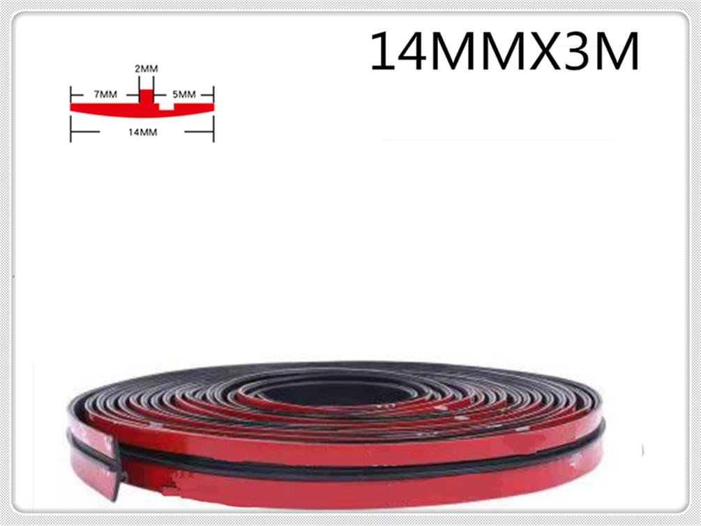 Accesorios universales para coche skylight t-shaped sello impermeable para Renault DeZir Safrane ZE Latitude Laguna Frendzy