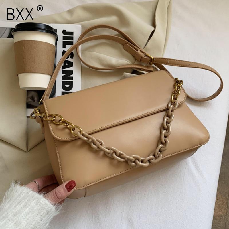 [BXX] Simple Good Quality Bags For Women 2021 Spring Shoulder Handbags Luxury PU Leather Crossbody Bag Simply Purses HQ799