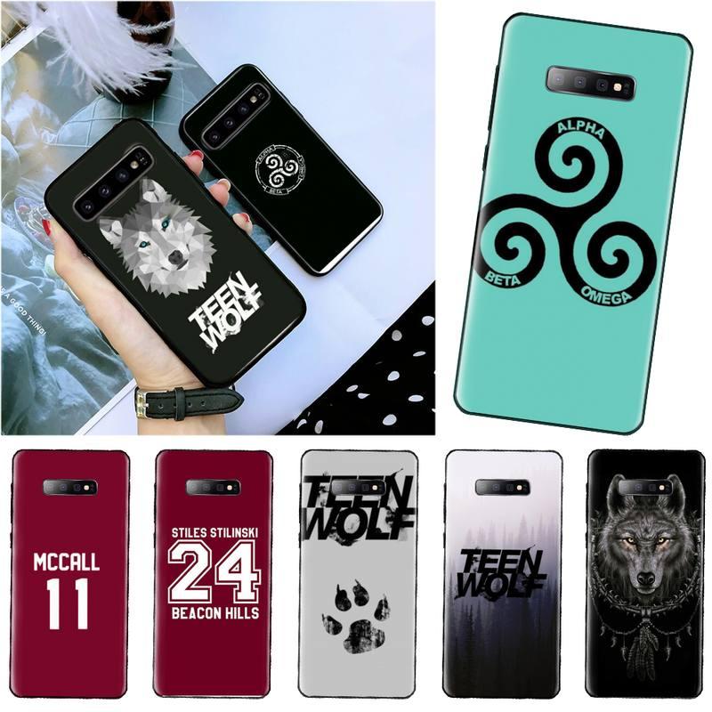 Teen Wolf drama América negro TPU suave funda de teléfono para Samsung A20 A30 30s A40 A7 2018 J2 J7 primer J4 más S5 Nota 9 10 Plus