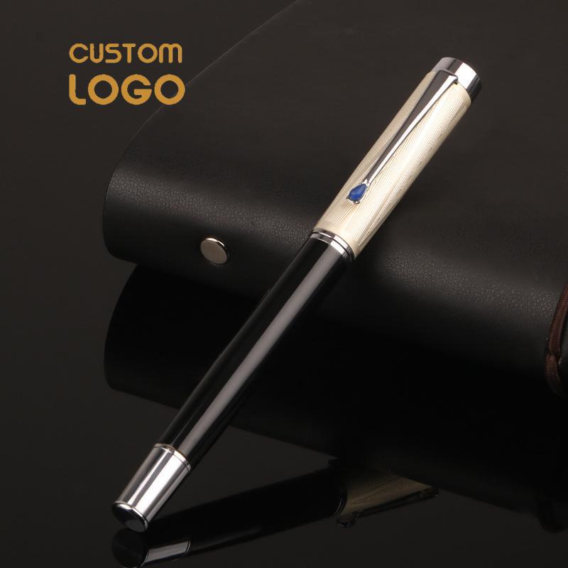 AliExpress - Luxury Metal Fountain Pens 0.5mm Nib School Student Gift Customized Logo Pen Office school supplies Logo text MOQ 50pcs
