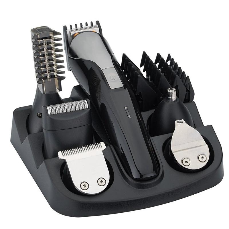 Un multifonctionnel Rechargeable électrique tondeuse à cheveux Kit de toilettage nez oreille barbe tondeuse et moustache tondeuses rasoir costume Hai