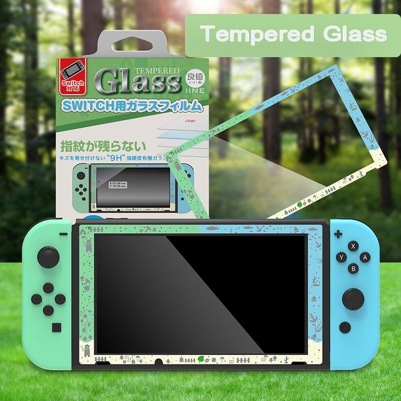 Vidro protetor para nintendo switch, película de vidro temperado 9h para proteção de tela de nintendo switch, acessório de vidro