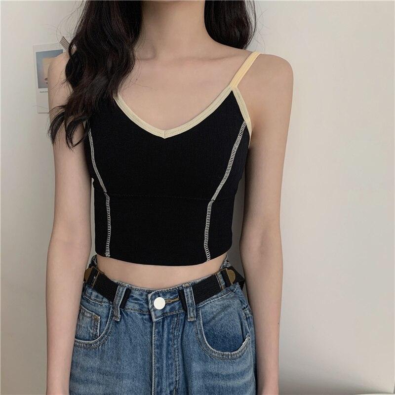 Spring Beauty Back Small Black Camisole Outer Wear Underwear Base Wireless Bandeau Short Inner Wear