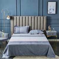 yaapeet 3pcs plain grey bedding set bedroom dobby cartoon high quality bedding linens elegant breathable quilt cover sheets