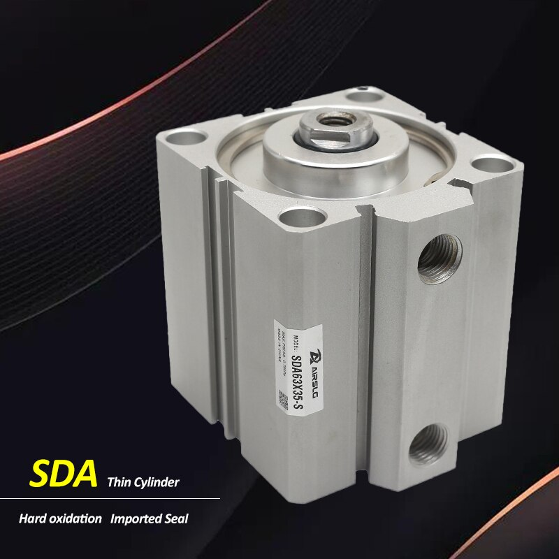 SDA Bore 40MM Airtac Type Double Acting Compact Air Pneumatic Cylinder SDA40 Stroke 5-100mm Female /Male Thread sda cylinder compact pneumatic air 20mm bore 5 100mm stroke sda20 pneumatic double acting cylinder air piston cylinder sda20 25