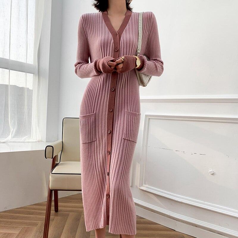 2020 début printemps laine Cardigan col en v pull laine à tricoter chemise de fond coréen mince mode femmes pull tricots