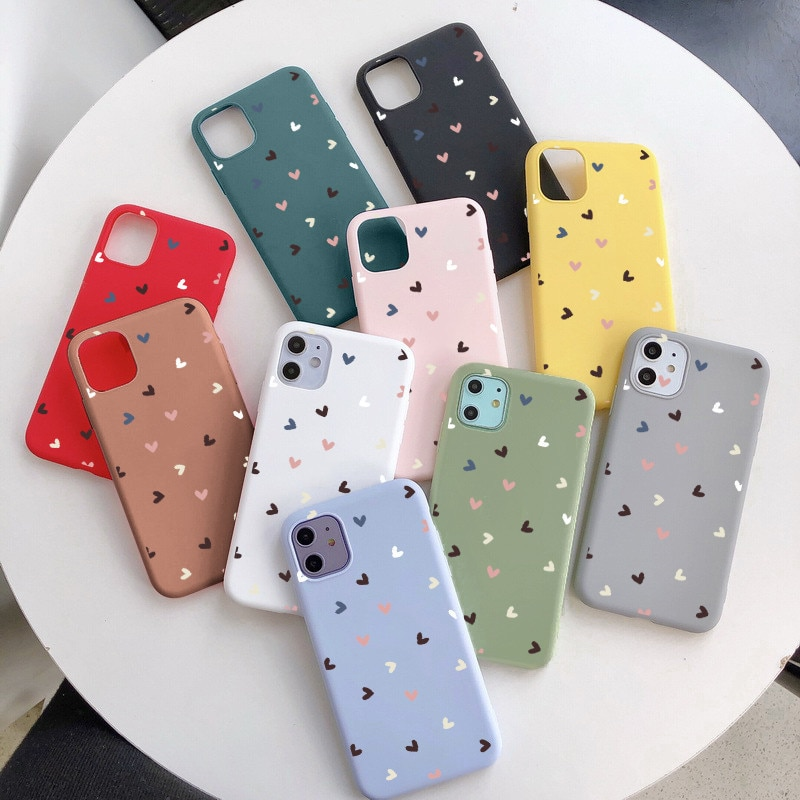 Cute Love Heart Case For Samsung Galaxy A20E A20 A30 A21S A40 A41 A50 A51 A70 A71 S9 S10 S20 S21 Plu