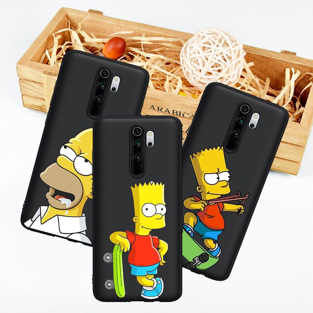 Homer J Simpson Lustige Bart Cartoon für Xiaomi Mi 9T Redmi Hinweis 5 6 7 8 8T 9 9S K20 K30 9T Pro telefon fall abdeckung funda weiche etui