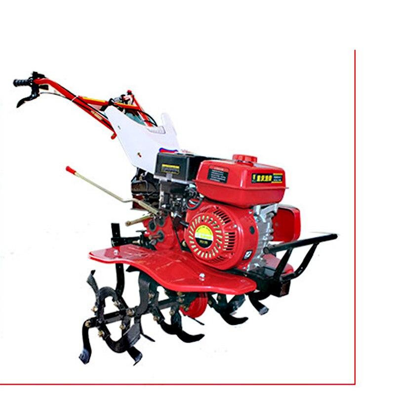 Máquina da lavoura da lavoura do solo de trenching do trator pequeno da lavoura da gasolina de 7.5 cavalos de potência giratória micro