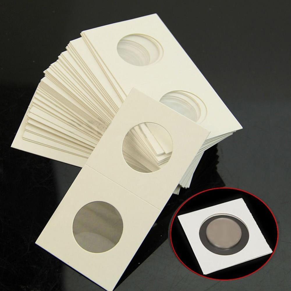 Fundas protectoras para guardar monedas, 200 Uds., Clip de papel para moneda...
