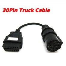 30 контактный переходник для грузового кабеля для дизельных автомобилей Iveco, OBD коннектор, удлинитель для TCS 30 контактного OBD2, гнездовой 16 контактный сканер