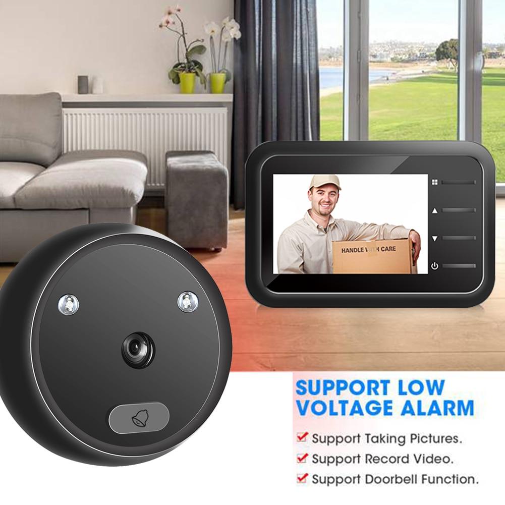 R11 Digital Doorbell Smart Electronic Peephole Viewer 2.4 inch LCD Color Screen IR Night Vision Door Video Camera Door Bell enlarge