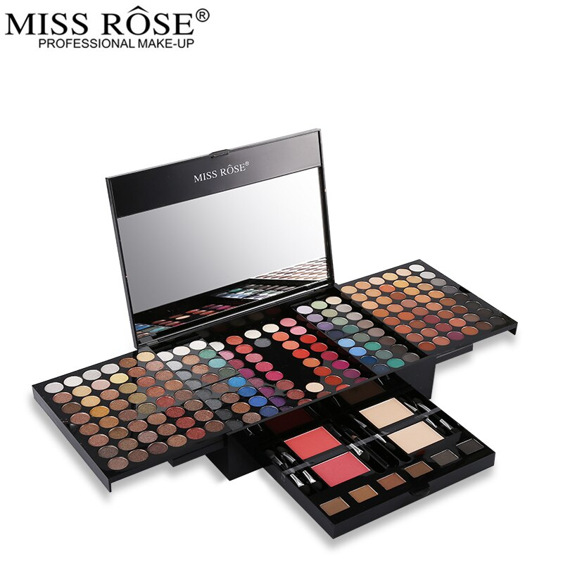 Miss Rose Supersize Makeup Set 180 Color Matte & Shimmer Eyeshadow Palette Eye Shadow Nude Make Up Kit Beauty Cosmetics Box