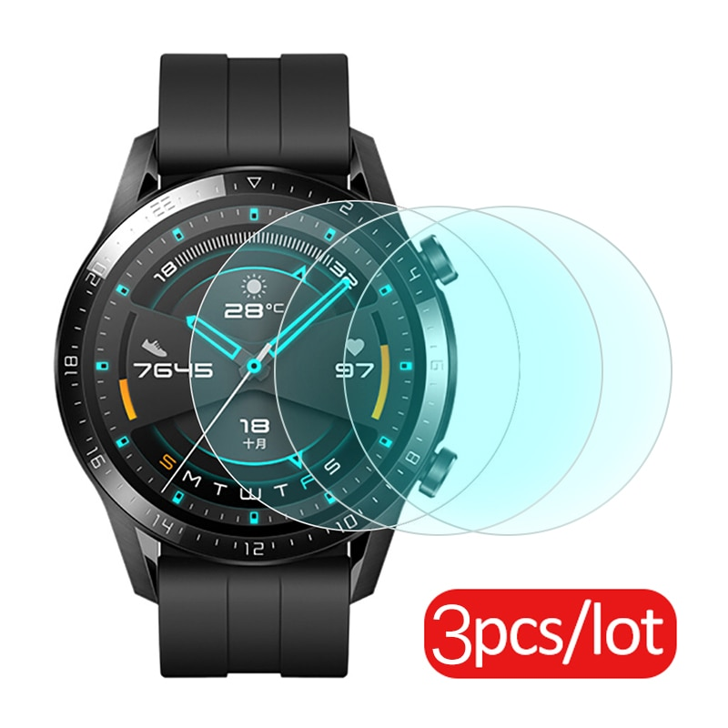 3pcs Tempered Glass For Huawei Watch GT 2 46mm protective Glass For huawei GT2 band Screen Protector