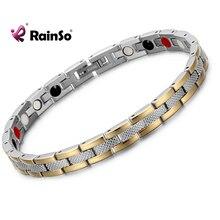 RainSo 316L acier inoxydable or lien chaîne magnétique sapin 4 en 1 amitié Bracelet pour femmes mode Style bijoux 2019