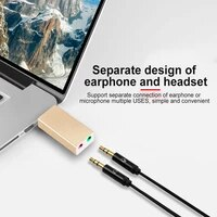 usb external aluminum 7 1 channel stereo sound audio 3 5mm jack aux headset adapter replacement for windows xp 7 8 10 android