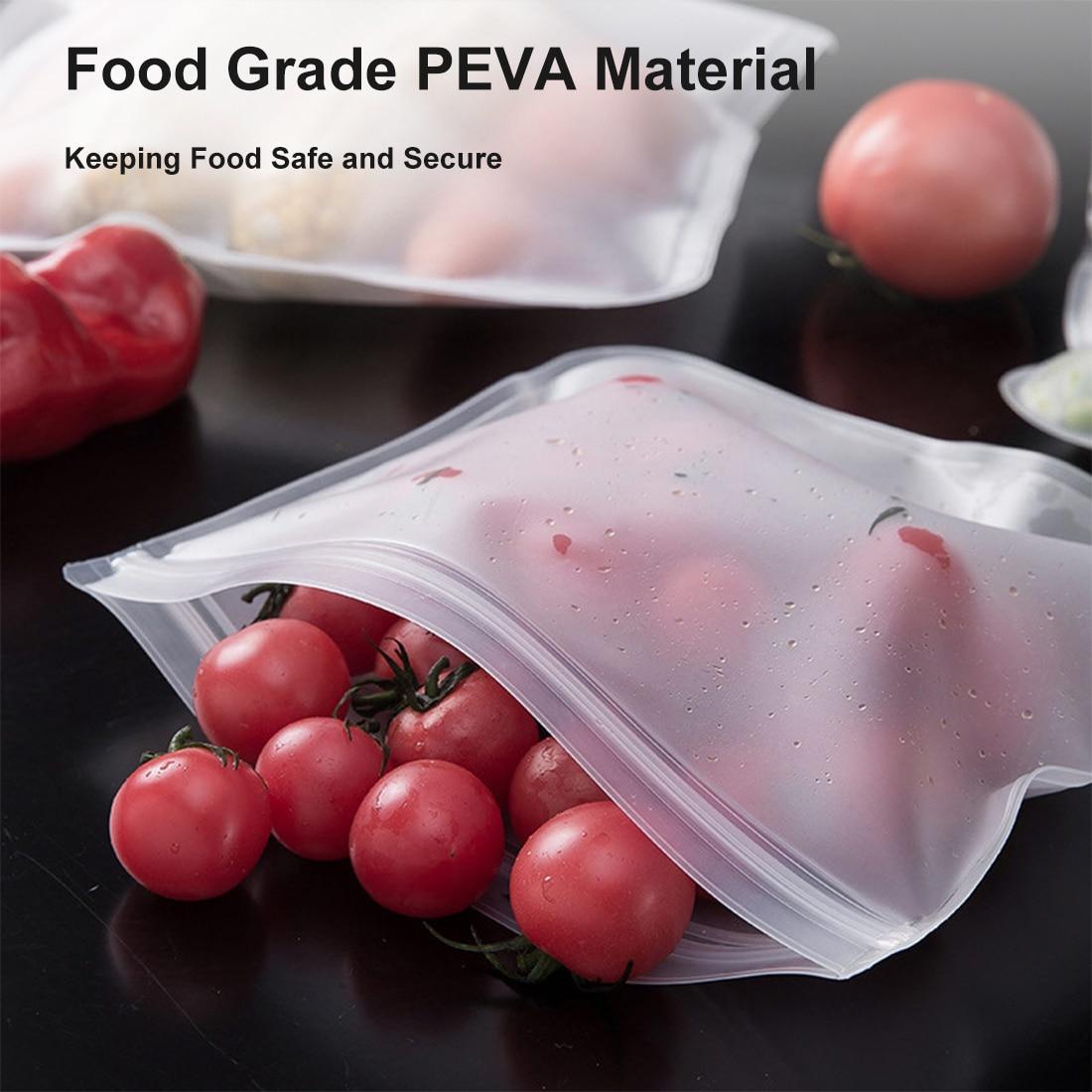 Силиконовые контейнеры для хранения пищевых продуктов, пакет для хранения пищевых продуктов, герметичные контейнеры для свежести, многора...