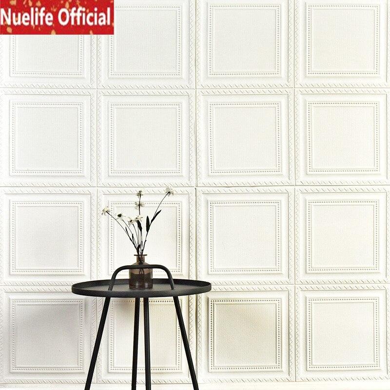 Autoadhesivo 3d pegatinas de pared decorativo sala de estar TV Fondo pared dormitorio papel pintado para la cabecera de la cama anticolisión