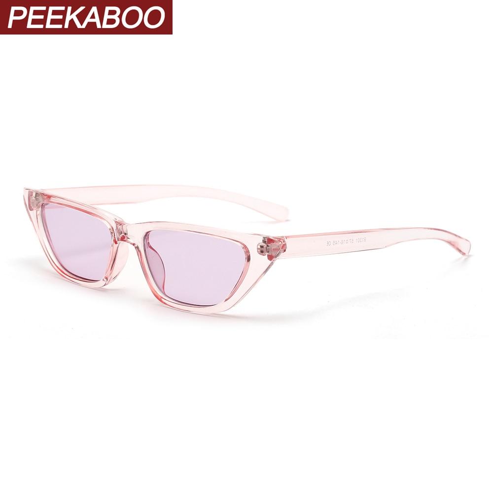 Peekaboo color transparente gafas de sol retro mujer color caramelo 2020 regalos fiesta color rosa de ojos de gato lentes de sol para dama pequeño barato